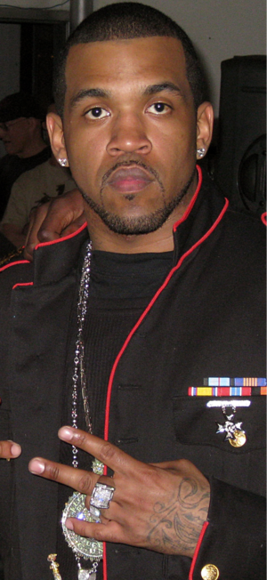 "Lloyd Banks - Lloyd Banks on the set of the ""Rider Pt. 2"" video."
