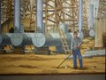 Lobby mural at the East Texas Oil Museum on the campus of Kilgore College in Kilgore, Texas LCCN2015630297.tif