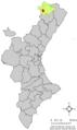 Localització de Cinctorres respecte del País Valencià.png
