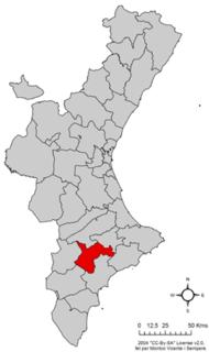 Alcoià Comarca in Valencian Community, Spain