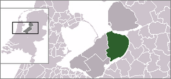 Location of Dronten in Flevoland and Netherlands