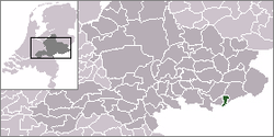 Location of the former municipality of Dinxperlo in the Netherlands