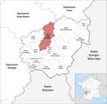 Locator map of Kanton Seilhac-Monédières 2019.png