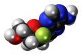 Lodenosine molecule spacefill.png