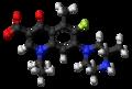 Lomefloxacin zwitterion ball.png
