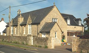 Long Hanborough - The old school house was built in 1879 and was still the infants' school until 1998