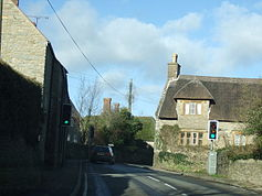 Longburton traffic lights on the narrow bend - geograph.org.uk - 316860.jpg