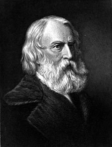 O poeta estatounitense Henry Wadsworth Longfellow.