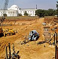 Looking west across excavation for Florida's new capitol building showing the Supreme Court in background- Tallahassee, Florida (3327719901).jpg