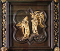 Lorenzo ghiberti e aiuti, porta nord del battistero di firenze, cornici, 06 tentazione nel deserto.JPG