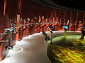 Losanna, museo olimpico, int, torce olimpiche.JPG