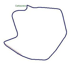 Pacific Grand Prix - Layout of Laguna Seca at the time the event was held there as a non-championship event.
