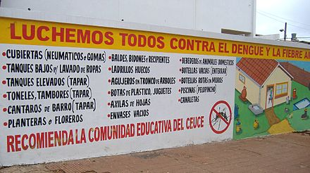 Information campaign for prevention of dengue and yellow fever in Paraguay Luchemos todos contra el dengue.jpg