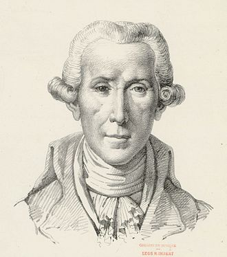 Luigi Boccherini - Pencil drawing of Luigi Boccherini by Etienne Mazas after a portrait bust