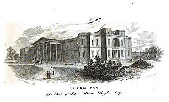 Luton Hoo - 1855 engraving entitled: Luton Hoo, the seat of John Shaw Leigh, Esqre.