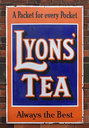 J. Lyons and Co. - A Lyons' Tea sign