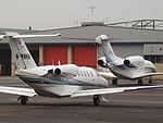 M-WMWM Cessna Citation CJ2 With N750GF Cessna Citation 750X Corporate Jets (24008076836).jpg