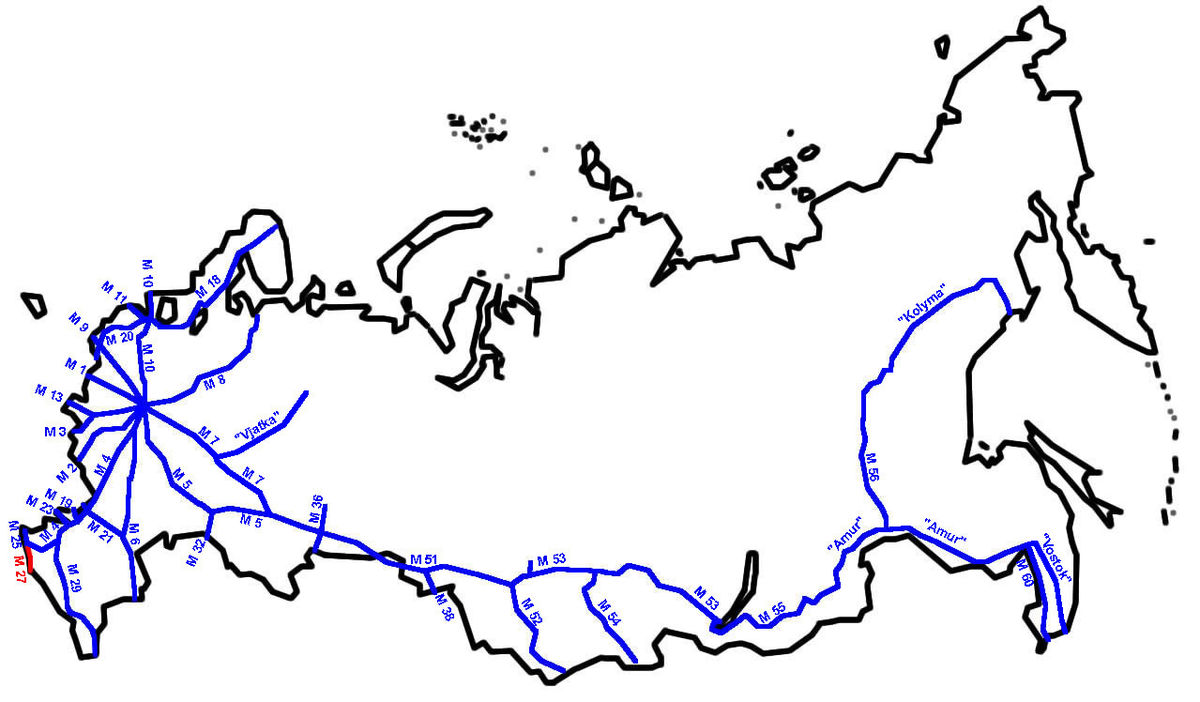 Autopista M27 Rusia Wikipedia La Enciclopedia Libre