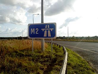 N2 road (Ireland) - Start of the motorway north of Ashbourne