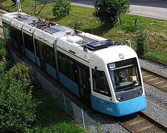 Sirio - M32 tram out for a test run in August 2006