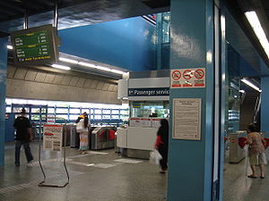 Queenstown, Singapore - Queenstown MRT Station concourse