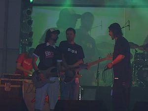 Manga (band) - Manga on stage at Sziget Festival, Hungary; 13 August 2006.