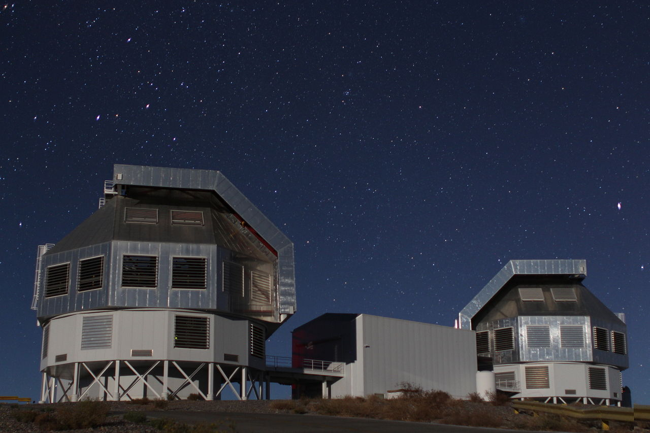 กล้องโทรทรรศน์มาเจลลัน ณ หอสังเกตการณ์ Campanas ในทะเลทรายอาตากามาประเทศชิลี