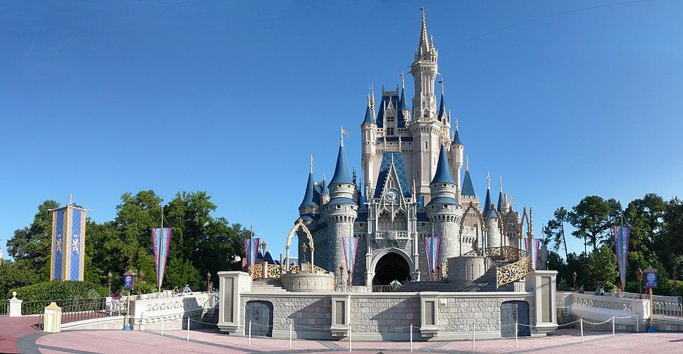 Magic Kingdom - Cinderella Castle panorama - by mrkathika