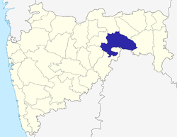 Location of Yavatmal district in Maharashtra