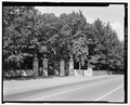 Main entrance gate, view NW - Vanderbilt Mansion Roads and Bridges, Hyde Park, Dutchess County, NY HAER NY-317-1.tif