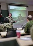 Maj. Michael Meelby Vibholm from the Territorial Defense Danish Home Guard gives an overview of the Danish Home Guard during Exercise Arctic Eagle 2017.jpg