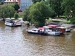 Malá Strana, přístaviště u Klárova, z Mánesova mostu.jpg