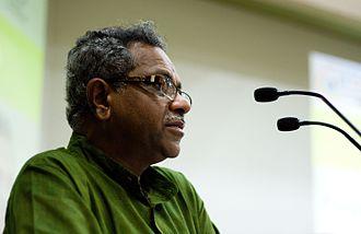 Shaji N. Karun - Shaji N. Karun giving a lecture at Saarang 2011, IIT Madras