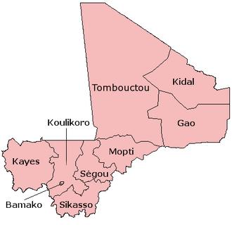 EUTM Mali - Mali Regions
