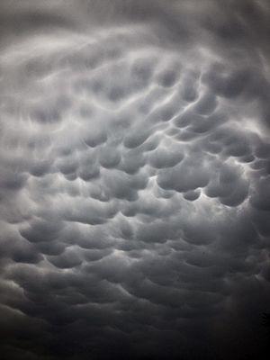 Mammatus cloud - Image: Mammatus over Croatia