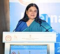Maneka Sanjay Gandhi addressing the gathering on the occasion of the International Day of the Girl Child, organised by the Ministry of WCD in collaboration with UNICEF India, in New Delhi.jpg