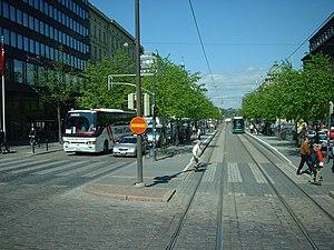 Mannerheimintie - Mannerheimintie in the city centre, near its start.