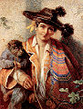 Manners - A Spanish travelling muscian and his monkey.jpg