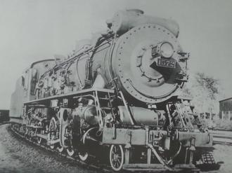 China Railways JF1 - Mantetsu ミカコ1572, later ミカイ73, finally China Rys JF1 73
