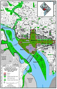 National Mall Wikipedia - Us map of national parks and monuments