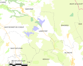Map commune FR insee code 15091.png