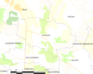 Auterive, Gers - Auterive and its surrounding communes