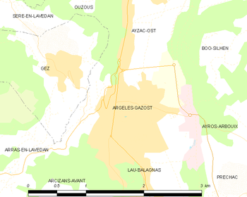 Map of the commune de Argelès-Gazost