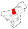 Map of Bushkill Township, Northampton County, Pennsylvania Highlighted.png