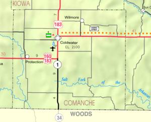 Comanche County, Kansas - Image: Map of Comanche Co, Ks, USA