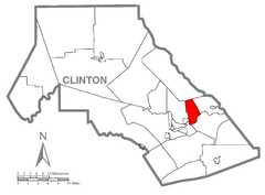 Map of Dunnstable Township, Clinton County, Pennsylvania Highlighted.png