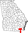 Map of Georgia highlighting Charlton County.svg