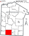 Map of Jefferson County, Pennsylvania Highlighting Perry Township.PNG