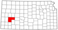 Map of Kansas highlighting Finney County.png