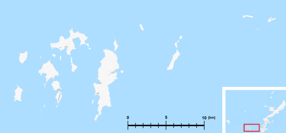 Map of Kerama Islands